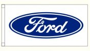 Ford GT Logo Blue and White Rectangular 180cm x  90cm